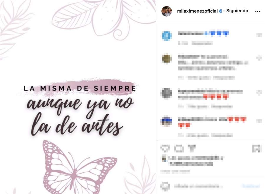 Mila Ximénez rompe su silencio en redes sociales