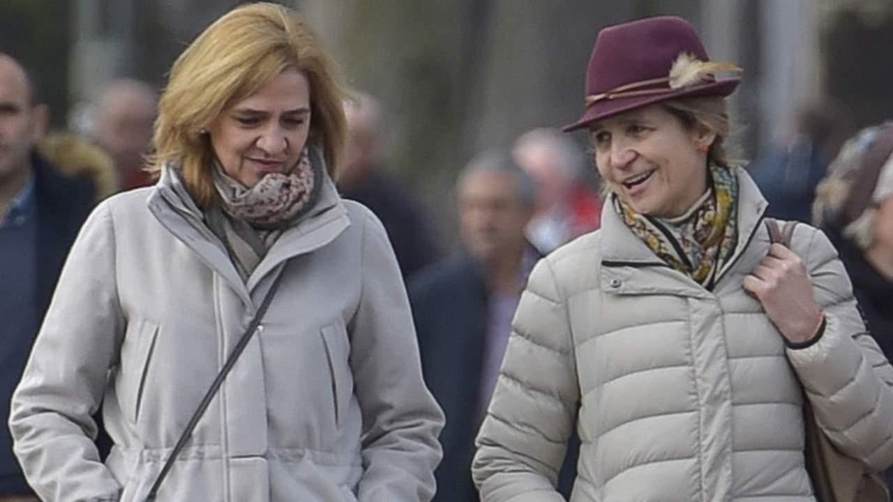 Las infantas Elena y Cristina podrían haberse vacunado durante su visita al rey Juan Carlos