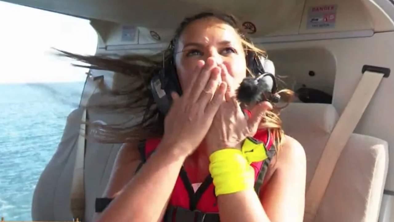 El emotivo guiño de Marta López a Álex Casademunt en su salto del helicóptero: