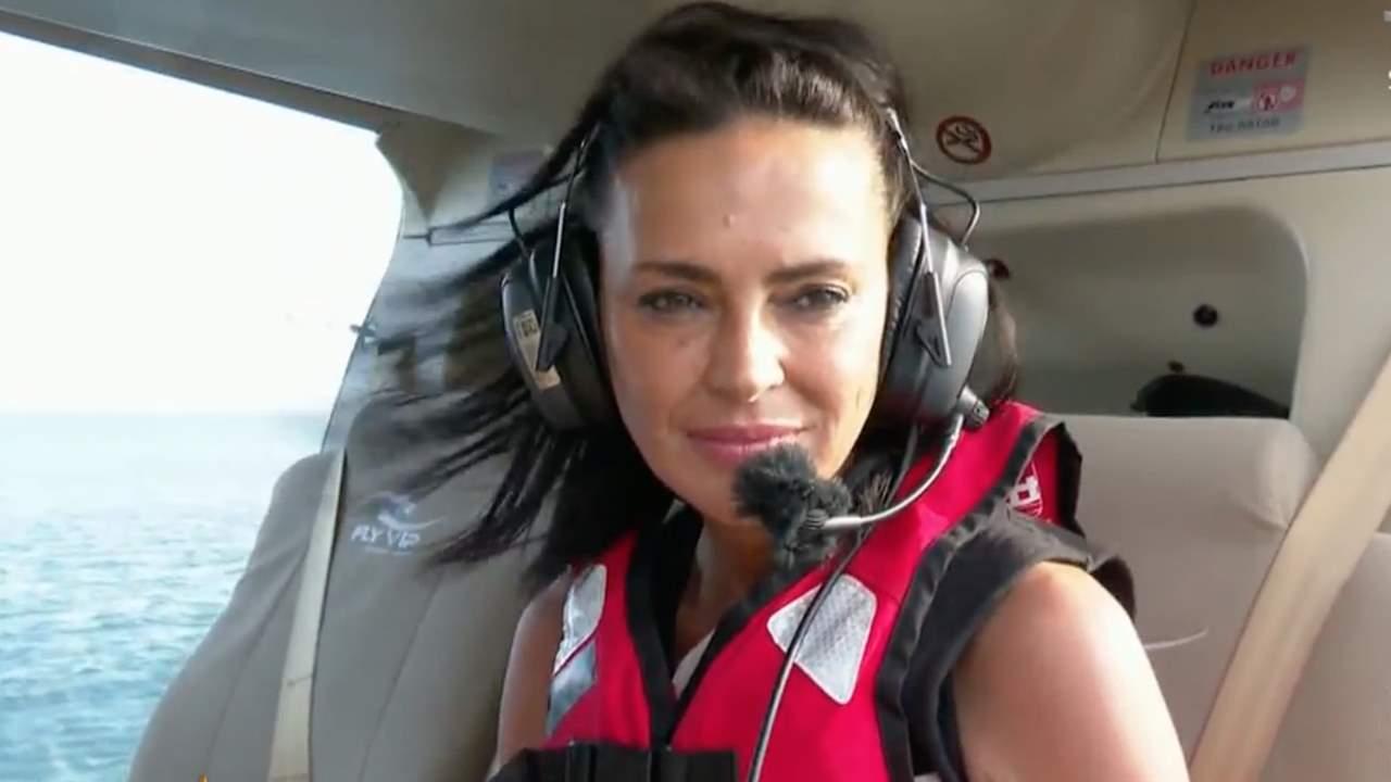 Olga Moreno salta del helicóptero llorando por su familia: