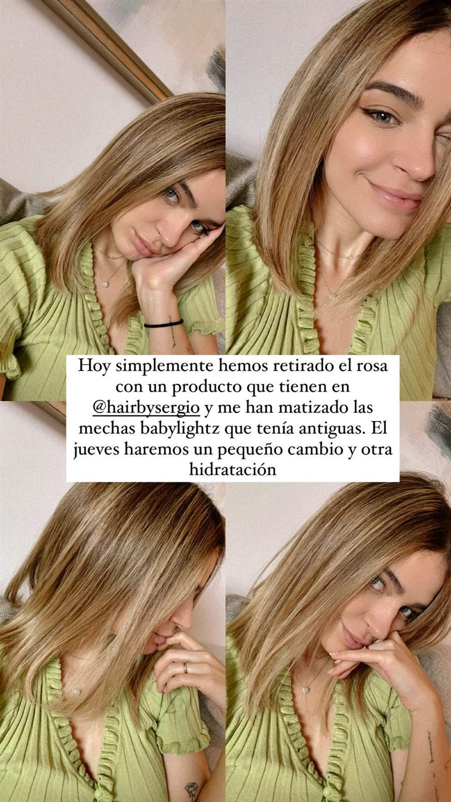 Laura escanes cambio de look