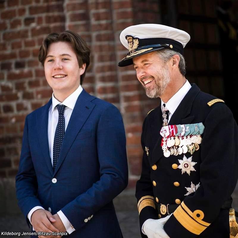 Tras los pasos de Leonor: Christian de Dinamarca debuta en su primer acto institucional