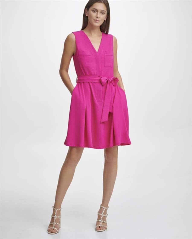 Vestido fucsia DKNY