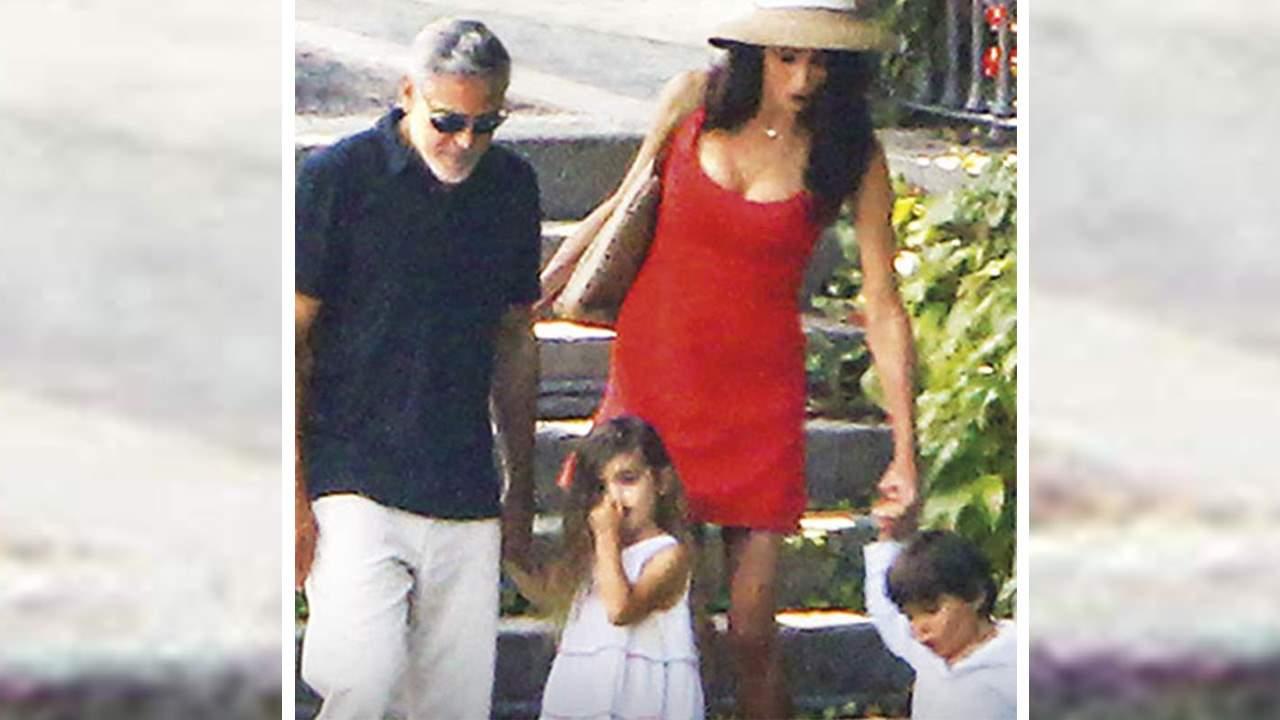 Amal y Clooney, vacaciones con sus mellizos