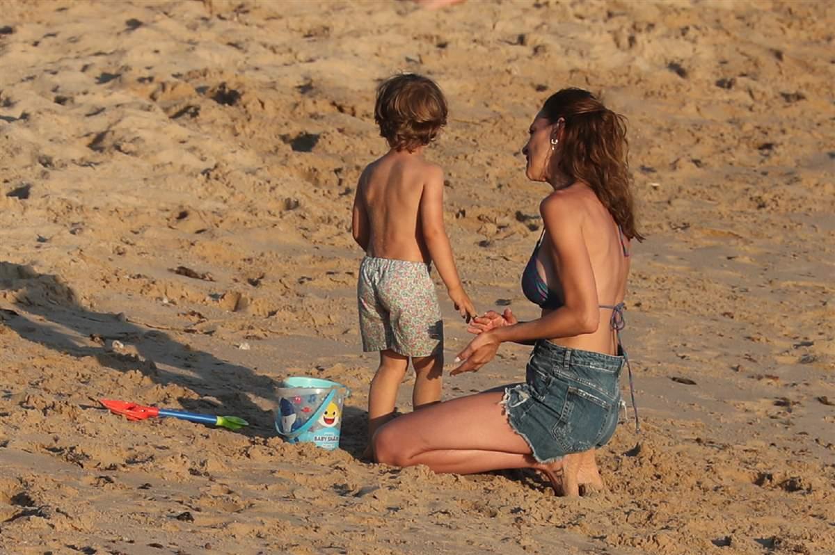 Eva González y su hijo Caye