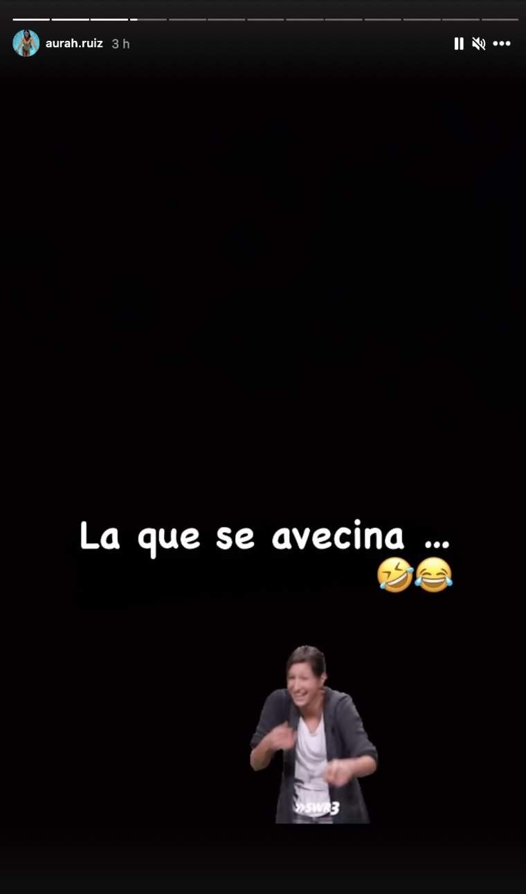 Aurah Ruiz reacción embarazo Rocío Amar