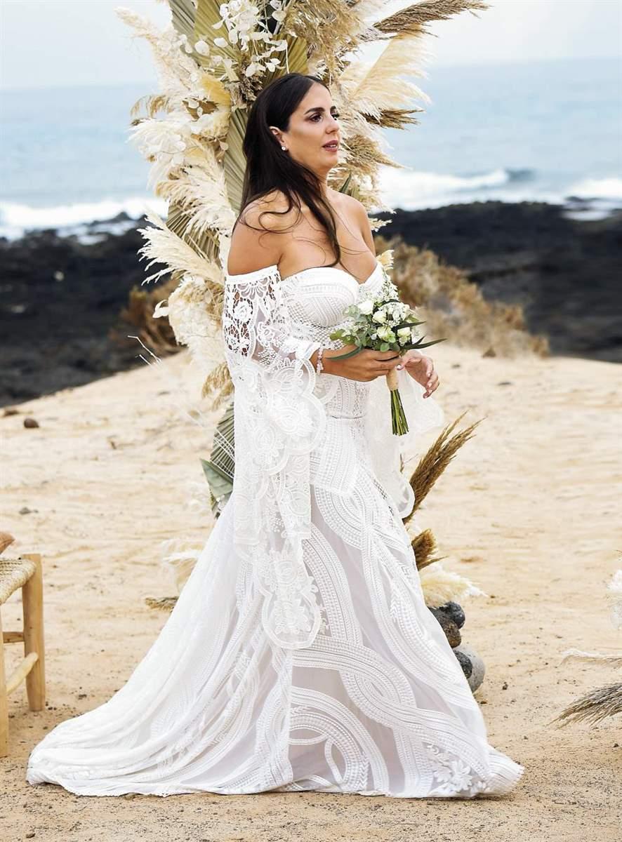 Anabel Pantoja en su boda